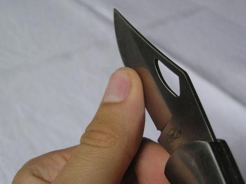 Kontrola ostří nože